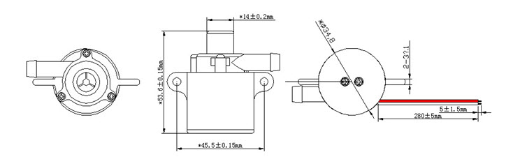 DCP35 dc water pump drawing